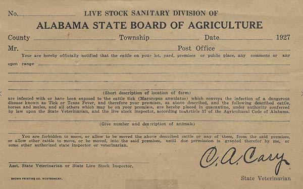 Historic livestock certification image