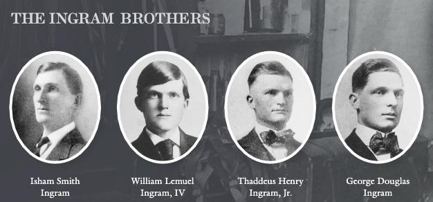 Ingram brothers photo. Isham Smith Ingram, William Lemuel Ingram, Thaddeus Henry Ingram, George Douglas Ingram