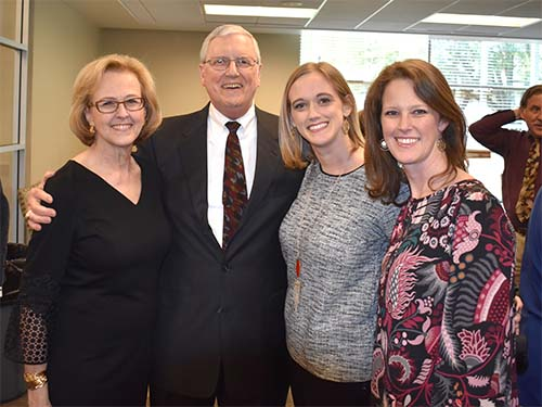 Dr. Dillon with his wife, Cathy, and daughters, Michelle and Haley.